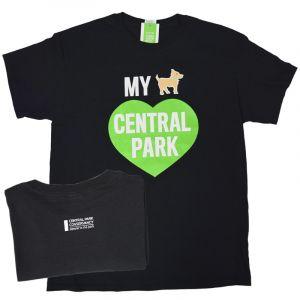 A black short-sleeve shirt with an emblem that reads