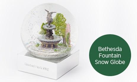 Bethesda Fountain Snow Globe