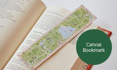 Central Park Map Canvas Bookmark