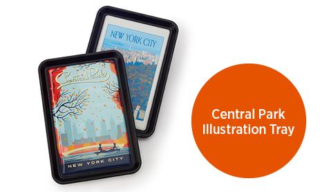 Central Park Illustration Tray