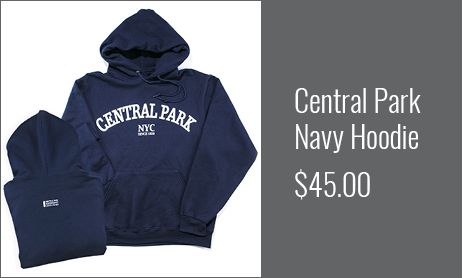 Central Park Navy Hoodie
